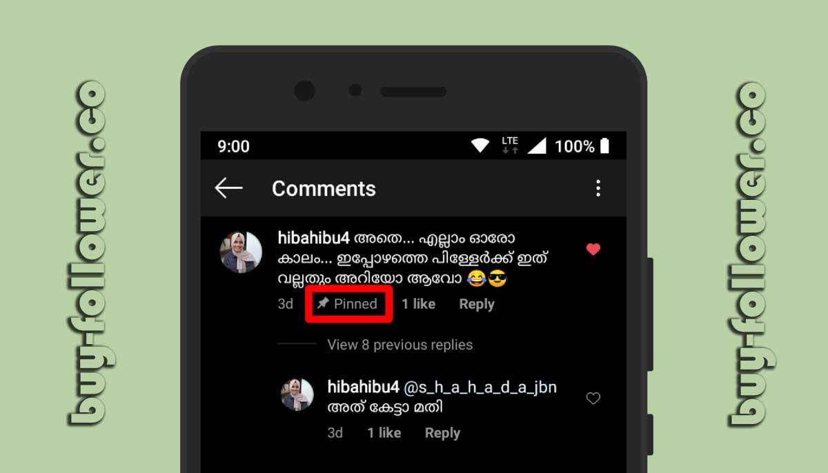 پین کردن کامنت اینستاگرام