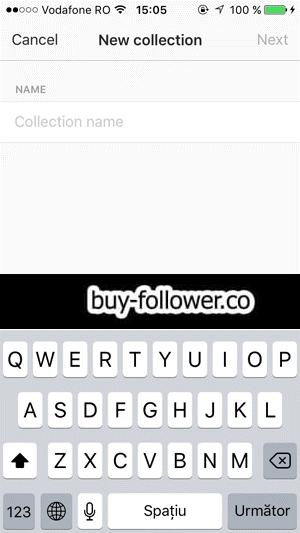 دسته بندی پست ذخیره در اینستاگرام - نوشتن نام برای دسته بندی