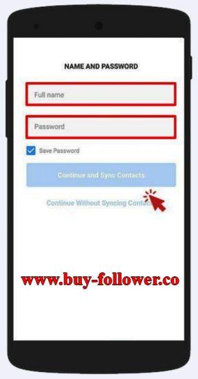 ساخت اکانت در اینستاگرام با شماره در موبایل - وارد کردن نام کاربری و رمز عبور