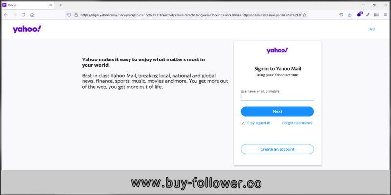 ساخت اکانت در یاهو ایمیل برای ثبت نام در اینستاگرام-آموزش تصویری ثبت ایمیل