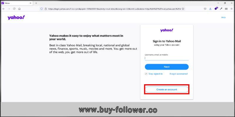 ساخت اکانت در یاهو ایمیل برای ثبت نام در اینستاگرام-روند ثبت اکانت یاهو