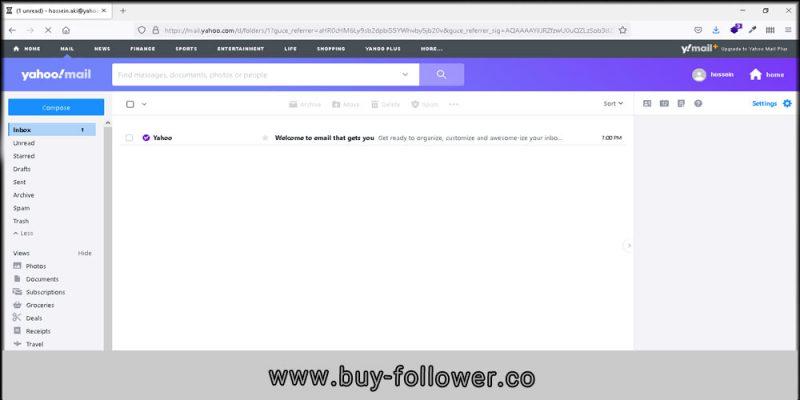ثبت حساب کاربری yahoo